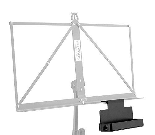 Classic Cantabile NSA-20 Ablagebox für Notenständer (wird einfach an Notenpult gesteckt, mit aufsteckbarem Rahmen, Moosgummiboden) Schwarz