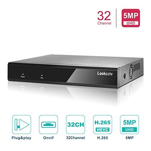 Lookcctv 5MP H.265 NVR Grabador de Video en Red