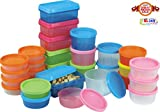 #4: BMS Mini Food Storage Containers Set, Condiment and Sauce Container, Baby Food Storage and Lunch Boxes , Multi-Purpose Leak Proof & Microwave SAFE , 29-Pieces Set