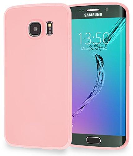 MyGadget PC Plastik Hülle für - Samsung Galaxy S7 Edge - ultra dünn & leicht (0,8 mm / 6 gr.) harter Bumper Schutzhülle Cover Case Anti Kratz Schutz in Schwarz TPU Rosa