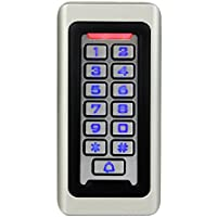 Tivdio Control de Acceso Impermeable Teclado Táctil Independiente Proximidad para RFID Sistema de Control de Acceso 125KHz Retroiluminación Teclado ID Control de Acceso
