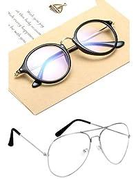 Sheomy Cateye Unisex Spectacle Frame(Transparent|55|Selfy Round Transparent Wayfarer5)
