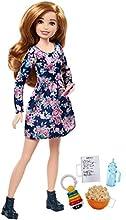 Barbie - Babysitter con Popcorn Bambola e 5 Accessori a Tema, FHY90