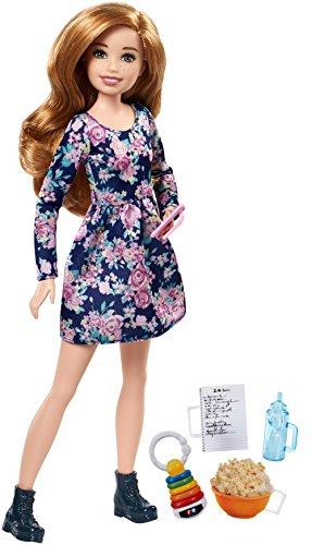Mattel Barbie FHY90 Barbie Skipper Babysitters Inc. Puppe + Handy + Fläschchen (Barbie-puppe-handy)