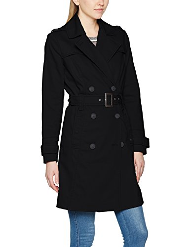 Brandit Damen Mantel Trenchcoat Girls, Schwarz (Black 2), Medium