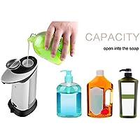 leoboone Auto Dispensador de jabón ABS Plástico Jabón de Mano Dispensador a Prueba de Fugas Cocina