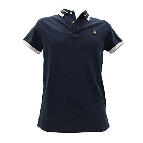 BEVERLY HILLS POLO CLUB Herren Poloshirt Blau