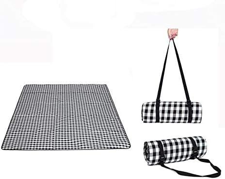 SYT SYT SYT Blankets Stuoia di picnic all'aperto spiaggia campeggio bambino Climb plaid coperta impermeabile coperta da picnic a prova d'umidità, 200x200 cm, nero bianco | Louis, in dettaglio  | Up-to-date Styling  35b304