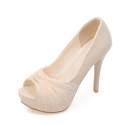Material Sandalen Adee High Weiches Damen Beige Schleifen heels q4qYwBIF