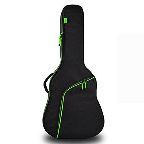 """YAAGLE 41\"""" Gitarretasche Wasserdicht verdicken Akustikgitarre Tasche 4/4 Acoustic Guitar Gig Bag für Kassikgitarre, Gitarrentasche, Gitarrenhülle Grün"""