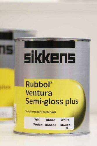Sikkens Rubbol Ventura Semi-gloss Plus, 1,0 L, Weiß halbglänzend, ventilierender Fensterlack