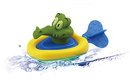 Coupon Matrix - SALE! Baby Bathing Boat Pull Clockwork CM© toys, Infant Kids Funny Duck Frog Animal Bath Swimming Pool Pull CM© toy Gift By GreatestPAK (B)