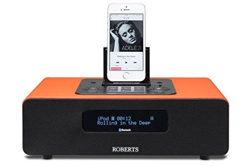 Roberts Radio Blutune65 (DAB+/FM/Bluetooth/Lightning-Dock) 2.1 Soundsystem mit Fernbedienung orange