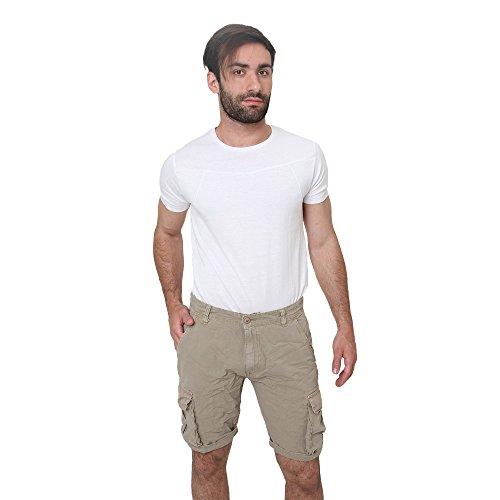 Pantaloncini Uomo Bermuda Shorts in Cotone Estate Casual Smiling London Sabbia