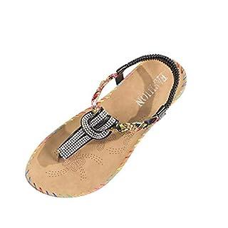 Huaya Damen Mode Kristall Nähen Roma Stil Slipper Sandalen Beiläufig Schuhe