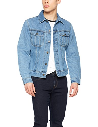 Lee Herren Jeansjacke Slim Rider, Blau (Super Stonewash Rd66), X-Large (Jeans-jacke Lee)