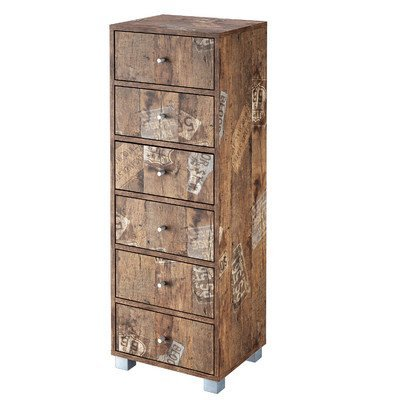 Schildmeyer 127865 Kommode, 40 x 113,5 x 33 cm, eiche antik dekor