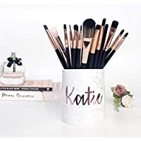 Rose Gold Makeup Organiser Brush Holder birthday gift copper desk accessories cosmetic pots