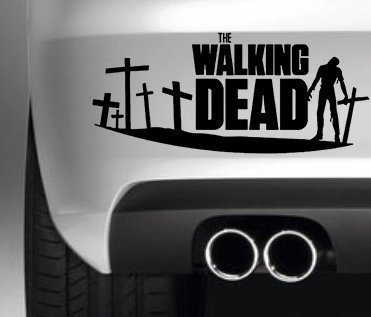 THE-WALKING-DEAD-ZOMBIE-CAR-BUMPER-STICKER-FUNNY-BUMPER-STICKER-CAR-VAN-4X4-WINDOW-PAINTWORK-DECAL-GRAPHIC