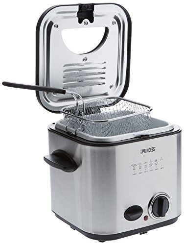 Princess Classic Mini Fryer & Fondue, Plata/Negro, 230 MB/s, Acero inoxidable - Freidora