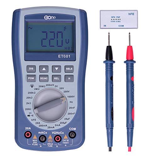 EONE Osciloscopio portatil USB Multímetro digital profesional AC/DC Voltaje actual Auto Rango Tester Digital,Capacitancia frecuencia de resistencia,control remoto diodo triodo de detección