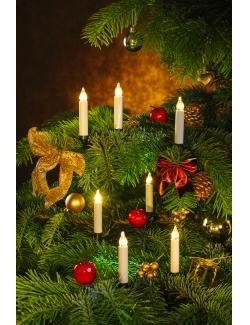 Innocom kabellose Mini-Weihnachtkerzen 20er Set
