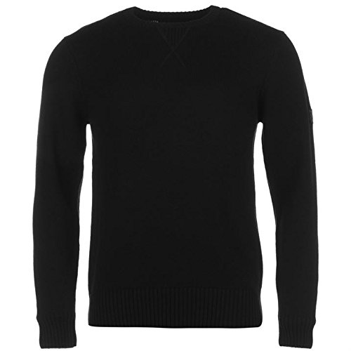 Firetrap-Mens-Galaxade-Knit-Jumper-Ribbed-Pullover-Long-Sleeve-Crew-Neck-Top