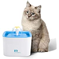 Rhodesy Fuente de Agua Gato Fuentes de Flores, Silencia Bebedero Gato 2.5 Ultra Silenciosa y Automática para Mascotas