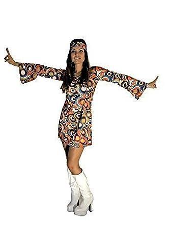Girl Costume Hippie - 60 Swirl 70 Hippie Retro Gogo Fancy