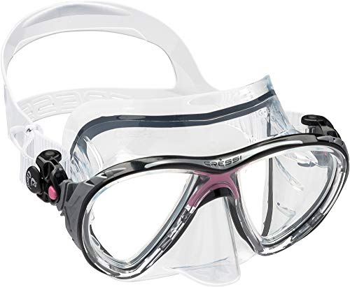 Cressi Unisex - Erwachsene Taucherbrille Big Eyes Evolution, rosa, DS336040