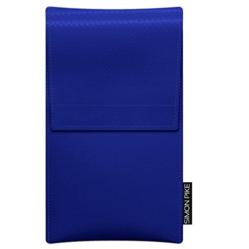 SIMON PIKE Case Hülle aus LKW Plane Sidney, kompatibel mit Wiko Ozzy, in 1 blau LKW_Plane