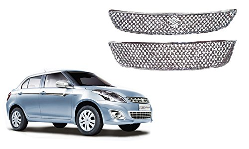 Auto Pearl - Premium Quality Car Chrome Front Grill For - Maruti Suzuki Swift Dzire New Model (Type 2)  available at amazon for Rs.2989