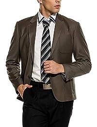 Anzug Blazer Herren Langarm Jacken Sakko Business Revers Einfacher Stil  Freizeit Männer Casual Anzugjacken Slim Fit 83d726955d