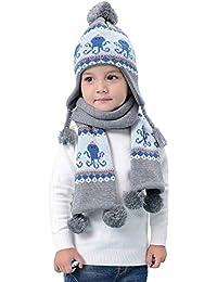 Invernali Sciarpa cappello lavorato a maglia termico Set 2 pezzi Bambini  Bambine 6 mesi a 8 5befa4bcc14e