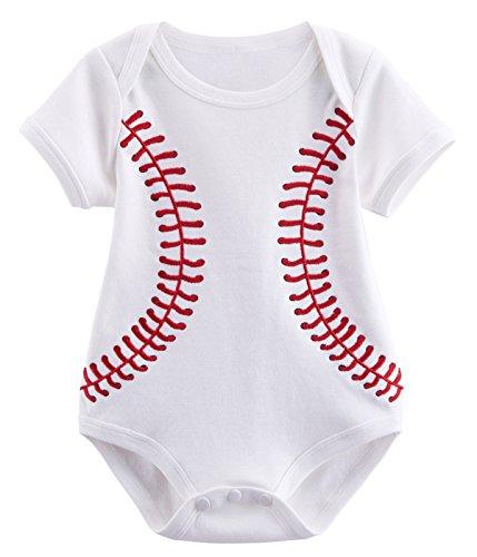 Mombebe Baby Jungen Baseball Kostüm Bodys (12-18 Monate, Baseball)