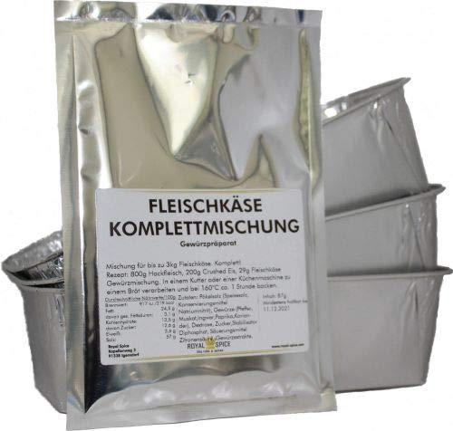 Fleischkäse/Leberkäse Komplett Set mit Schalen für bis zu 3 Kg Leberkäse Starterset