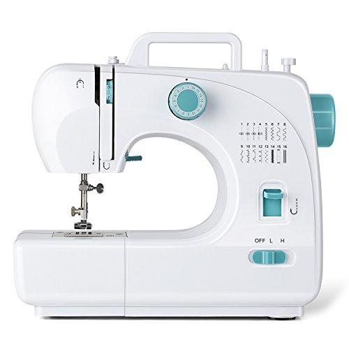 INTEY Máquina de Coser Mecánica, Maquina de Coser Portátil, 16 Puntadas Incorporadas, 40,5x19,5x33,5 cm / 16x7,5x13in, 100-240V / 78W, Ideal para Hogar, Fábrica y Clase de Costura