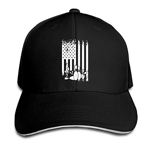 Presock Prämie Unisex Kappe Bowling Flag Adult Adjustable Snapback Hats