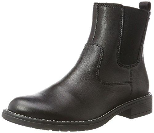 Richter Kinderschuhe Mädchen Mary Chelsea Boots, Schwarz (Black), 37 EU (Mädchen-schwarz-leder-schuhe)