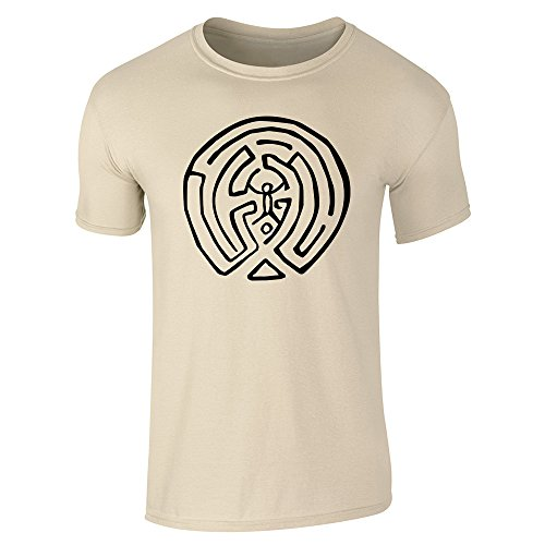 Pop Threads Herren T-Shirt Sand