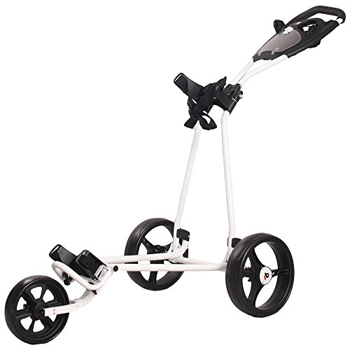 Rocket Bunny® 3 Wheel Trolley Golf Cart With Scorecard Holder One-Click Easy Folding Golf Trolley