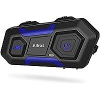 ALLROS T10 Auriculares de comunicación inalámbrica Casco de la Motocicleta Intercomunicación Admite hasta 3 Jinetes Comunicación de Llamada grupal con Manos Libres para Moto (Auricular Simple)