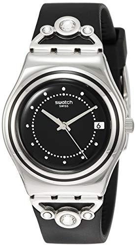 Swatch Damen Analog Quarz Uhr mit Gummi Armband YLS462