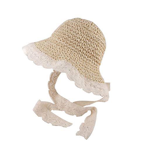 love+djl Babymütze Spitze Kinder Panama Hüte Für Mädchen Stroh Mutter Baby Hut Sommer Kinder Sonnenhut Für Mädchen Strand Baby Girl Cap @ C_48-54 -