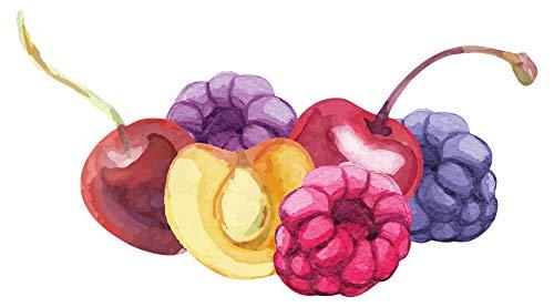 Wandtattoo Küche Obstteller mit Früchten Wandsticker Esszimmer Dekoration