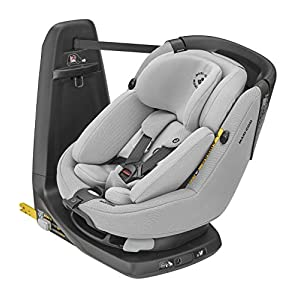 Maxi-Cosi Axissfix Plus Convertible Car Seat, Swivel Car Seat, Suitable from Birth, 0 Months - 4 Years, 45-105 cm,Authentic Grey   5