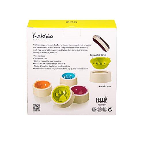 Mix-n-Match-FelliPet-Kaleido-Slow-Feed-Dog-Bowl-Medium-Fuchsia