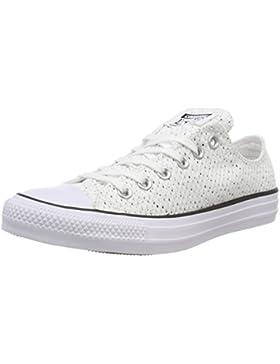 Converse CTAS Ox White/Glacier Grey/Black, Zapatillas Unisex Adulto