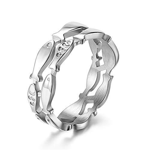 Kanqingqing Herrenring Unisex Glitters & Metallic Wolfram Ring Dome Poliert Ringe Für Männer Frauen Größen 6-11 (Farbe : Chrome, Größe : 10) -