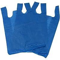 100 bolsas de polietileno, 28 x 43 x 53,3 cm, color azul